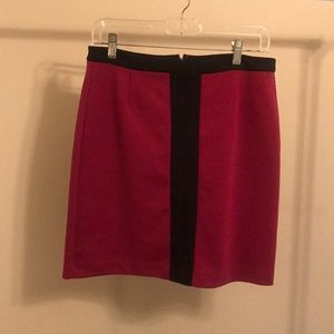 laundry by Shelli Segal Maroon and Black Skirt - 6
